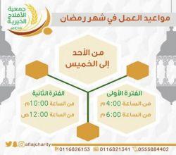 """خيرية الأفلاج تعلن مواعيد عملها في شهر رمضان وتطلق برنامج """" نجتمع كي ننتفع"""""""