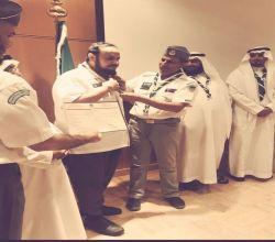 الكشافة السعودية تقلد أبو دجين الشارة الدولية 