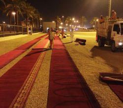 بالصور : إدارة مساجد الأفلاج تجهز مصلى العيد