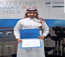 النقيب الحمدان ينهي دورة عسكرية بمركز الخليج للطيران في أبو ظبي