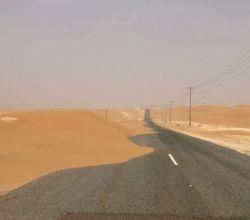 بالصور : رمال عرق مريصيص تتربص لحجاج بيت الله الحرام