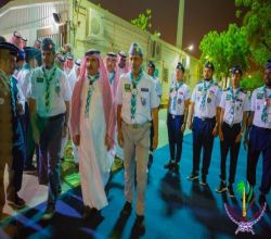 كشافة لجنة تنمية الأفلاج تشارك في استقبال رئيس جهاز أمن الدولة بمشعر عرفات