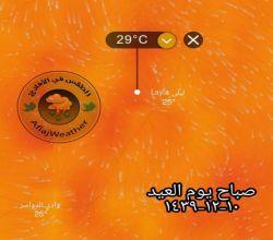الطقس في الأفلاج يصدر تقريرا عن توقعات الطقس أيام عيد الأضحى