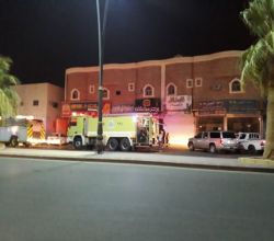 حريق يلتهم مطعم بالأفلاج