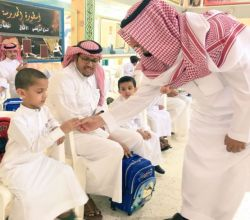 بالصور : مدير تعليم الأفلاج يُدشِّن الأسبوع التمهيدي في مدارس المحافظة