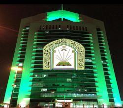 """""""الشؤون الإسلامية"""" تتوشح بالأخضر.. 28 مليون رسالة وهنا فعالياتها بيوم الوطن"""
