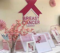 كلية التقنية للبنات تنظم  برنامج سرطان الثدي