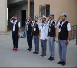 الفرق الكشفية بلجنة التنمية الاجتماعية بالافلاج  تقيم الدراسة الأولية للشارة الخشبية