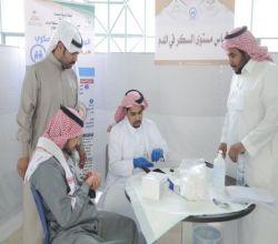 بالصور.. النادي التطوعي بكليات الجامعة ينظم فعالية اليوم العالمي للسكري