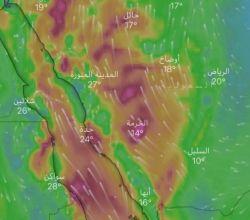 """""""الحربي"""": حالة مطرية تواعد 5 مناطق .. تشتد الجمعة والسبت"""
