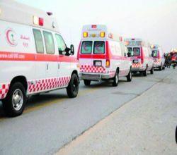في حادث مروري جنوب الأفلاج  . وفاة الأب والأم وأطفال