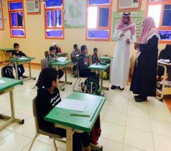 """مدير """"تعليم الأفلاج"""" يؤكد أهميةرفع مستوى التحصل الدراسي وإجادة القراءة والكتابة والإملاء"""