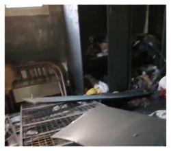 لجنة من الدفاع المدني والمالية تقف على أضرار حريق منزل في الأفلاج