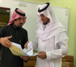 """مدير تعليم الأفلاج يتابع سير الدراسة بابتدائية """"سعد بن أبي وقاص """""""