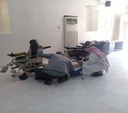 شاهد : جمعية الإعاقة الحركية تبدأ صيانة الكراسي المتحركة بمبرة الأفلاج الخيرية