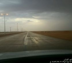 شاهد . الأمطار تنعش الهمجة غرب الأفلاج