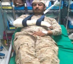 اصابة البطل سويد بن هادي الكبرا في الحد الجنوبي