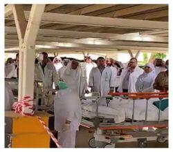 استنفار امني من الدفاع المدني والجهات الحكومية في مستشفى الأفلاج في خطة فرضية