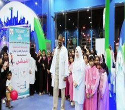 """شاهد : """"مركز صحي ليلى"""" يواصل تنفيذ برنامج لـ""""نمشي 2"""" بالكشف على 30 شخص بمدينة الألعاب"""