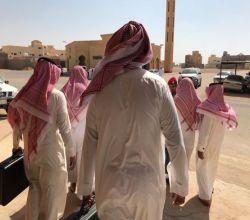 بالصور : إطلاق سراح 9 نزلاء بسجن الأفلاج مشمولين بالعفو  الملكي