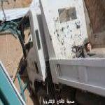 سقوط (سيارة دينة) تابعه لوزارة النقل في حفرة تابعه لتعليم الأفلاج