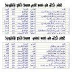أسماء العشر الأوائل على مدارس المحافظة ومدارس التحفيظ (بنات)