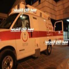 نظراً لخطر حالة المصاب تم نقلة إلى مستشفى الأمير سلمان بالرياض