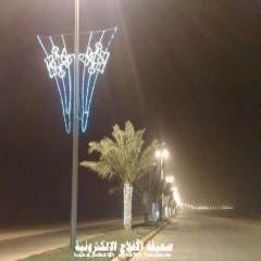 بلدية الأحمر تزين الشوارع استعداداً للعيد