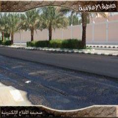 إعادة سفلتة طريق الأمير سلطان بن عبدالعزيز بالمحافظة
