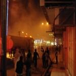 الدفاع المدني يسيطرة على حريق في احد مطاعم المحافظة