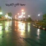 أمطار غزيرة على الهدار مع سماع الرعد