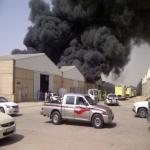 """فديو : حريق """"هائل"""" في مستودعات لفيصلية الرياض"""