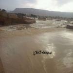 تقرير عن سيول سد الأحمر وخروجه مع الزلافات وإنقاذ مواطنين