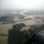 صور جوية توضح كميات الأمطار على المحافظة