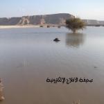 بالفديو  : ســـد الأحمر كميات كبيرة من مياه الأمطار