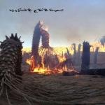 مدني الأفلاج يخمد حريقاً في نخيل بمركز حراضة