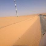 رمال متحركة تخفي طريق الأفلاج ـ مكة