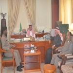محافظ الأفلاج يستقبل قائد دوريات أمن الطرق الجديد