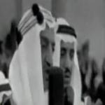 مشهد نادر للملك فيصل في كلمة للشعب السعودي