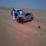 إصابة مواطن في حادث على طريق العجلية - السليل