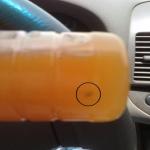 مواطن يتفاجئ بمجسم غريب وسط عصير