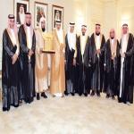 منصور بن متعب يستقبل رئيسي وأعضاء المجلس البلدي بمحافظة الأفلاج والرويضة