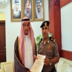 تكريم رئيس مركز انطلاق دوريات الأفلاج  بمبلغ مالي من أمير الرياض