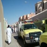 الدفاع المدني يسيطر على حريق في منزل بحي الدوائر بالأفلاج