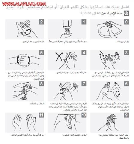 كيف تفرك يديك؟
