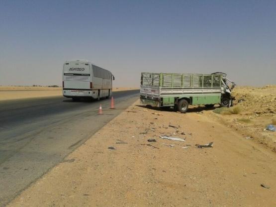 حادث الشاحنة ومنذ شهر متوقفة