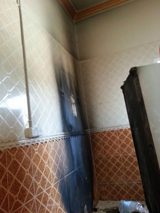 مدني الهدار يخمد حريقآ في منزل رجل أمن