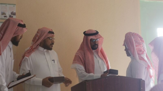 مدرسة متوسطة حطين بالبديع تكريم طلابها المتفوقين