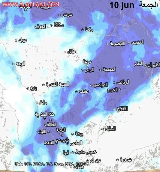 """راجس الخضاري ل""""صحيفة الأفلاج الإلكترونية """" حالة جوية ممطرة تشمل مناطق جنوب الرياض"""