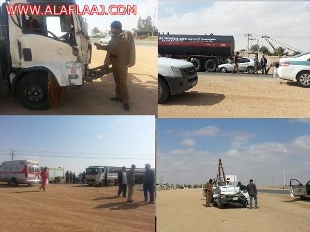 حادثان منفصلان شمال مدينة ليلى